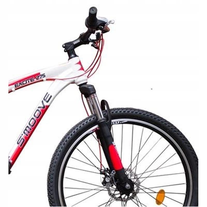 Горный велосипед MTB - S'moove Excite 27,5 - бело/красный - Фото 3