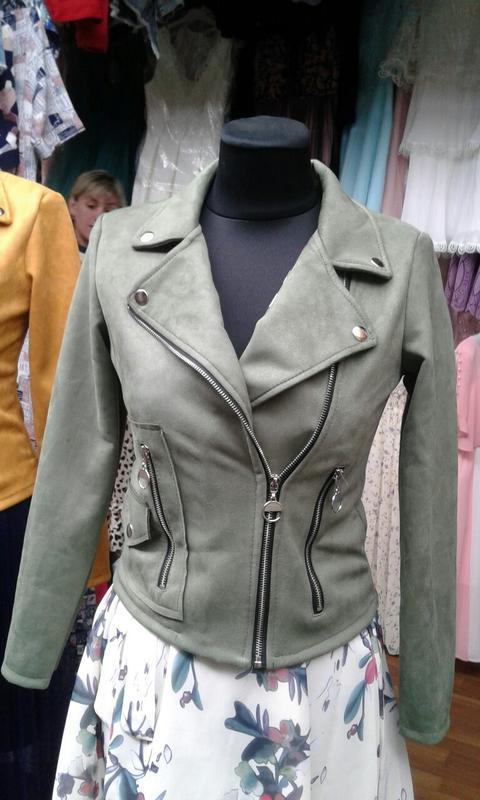 Куртка штучна замша