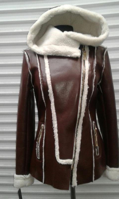 Куртка екокожа, утеплена овчиною