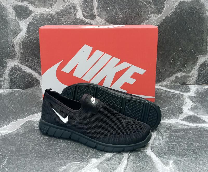 Летние кроссовки nike free run 3.0 черные,сетка,мужские - Фото 3