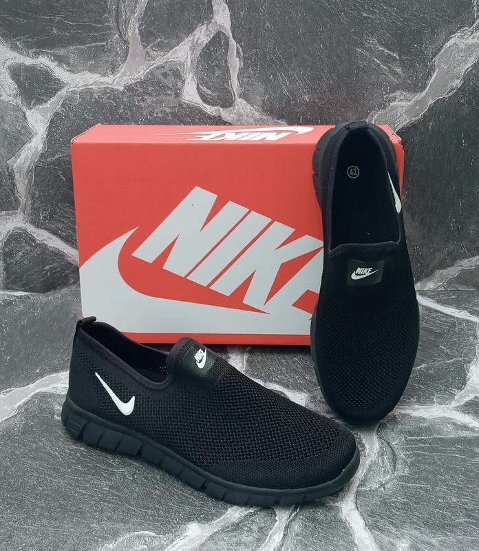 Летние кроссовки nike free run 3.0 черные,сетка,мужские - Фото 4