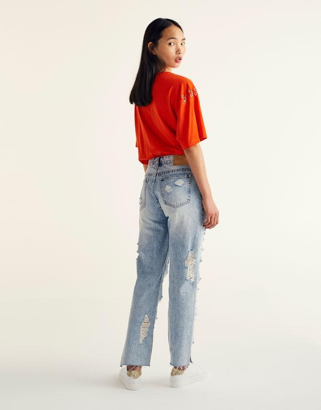 #розвантажуюсь джинсы мом мам mom fit бойфренды рваные pull&be... - Фото 2
