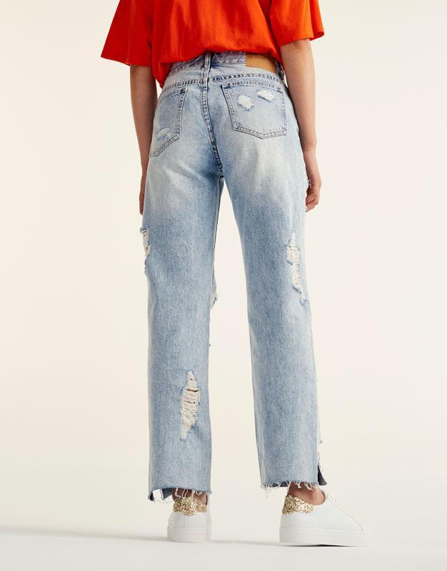 #розвантажуюсь джинсы мом мам mom fit бойфренды рваные pull&be... - Фото 3