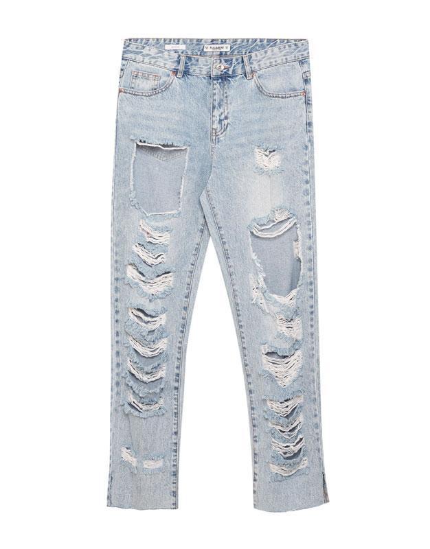 #розвантажуюсь джинсы мом мам mom fit бойфренды рваные pull&be... - Фото 6