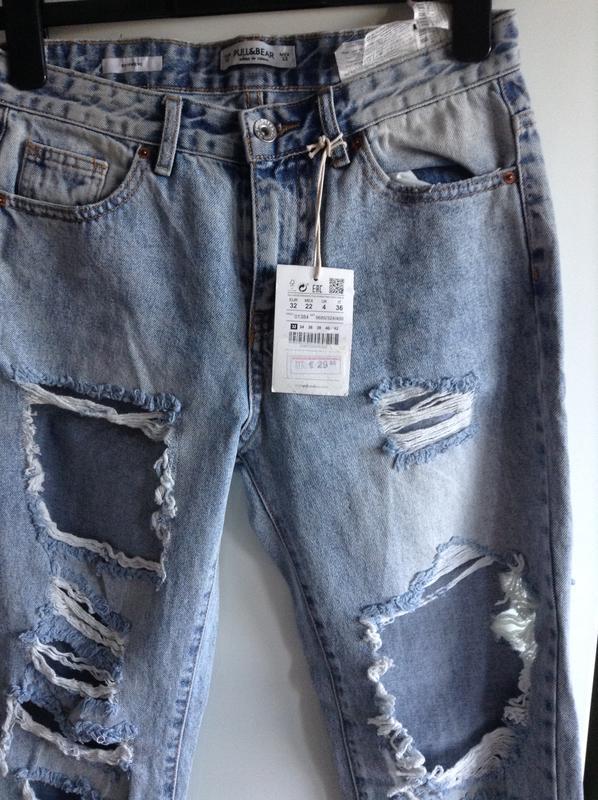 #розвантажуюсь джинсы мом мам mom fit бойфренды рваные pull&be... - Фото 10