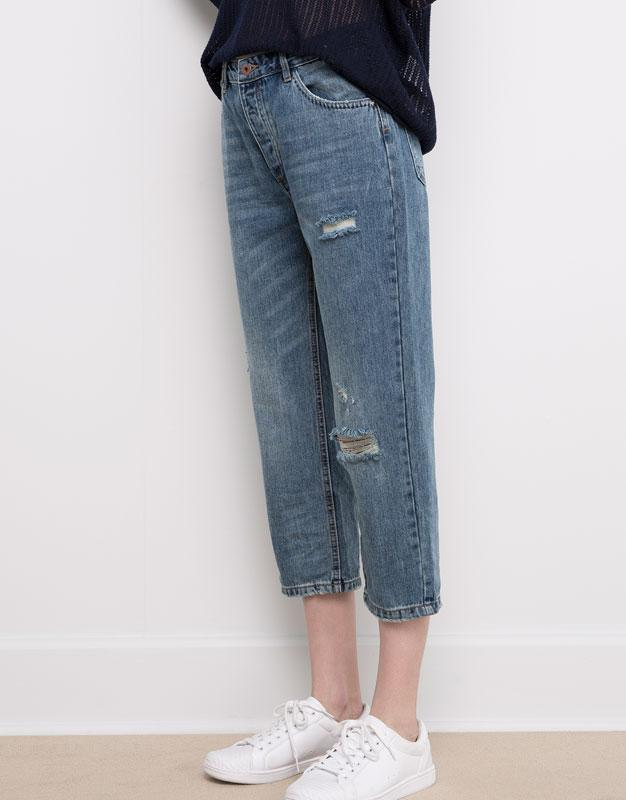 #розвантажуюсь джинсы мом мам бойфренды  mom fit pull&bear  xs...