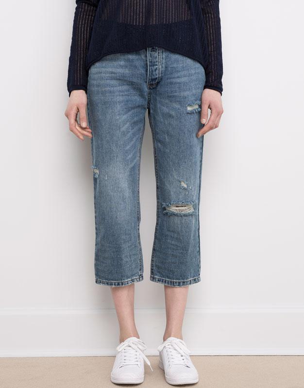 #розвантажуюсь джинсы мом мам бойфренды  mom fit pull&bear  xs... - Фото 2
