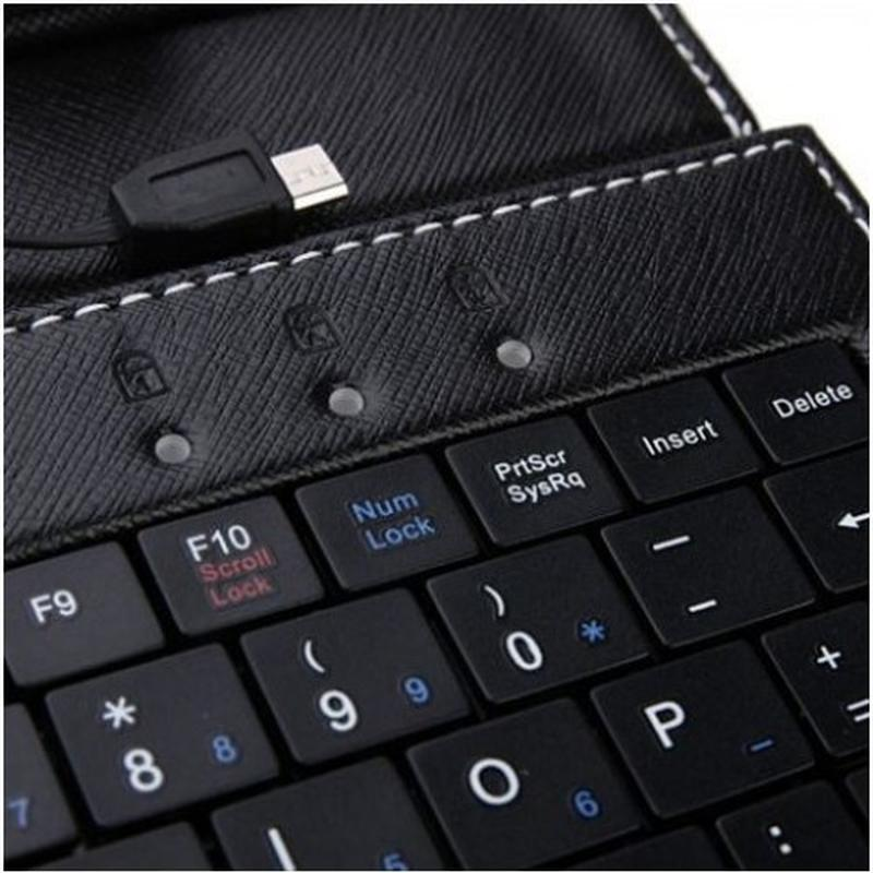 Универсальный чехол-клавиатура для планшетов с micro USB - Фото 5