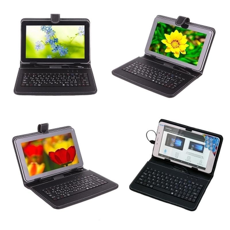 Универсальный чехол-клавиатура для планшетов с micro USB