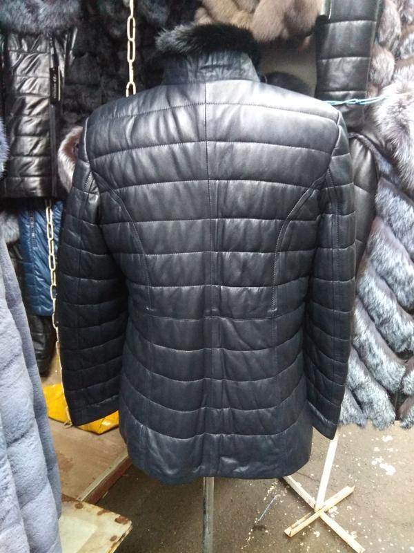 Курточка натуральная кожа и натуральная норка все размеры - Фото 2