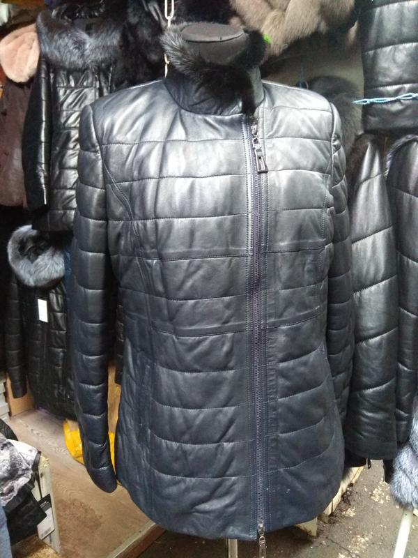 Курточка натуральная кожа и натуральная норка все размеры - Фото 3