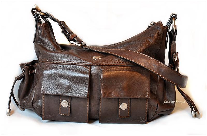 Кожаная породистая сумка от gil holstеrs