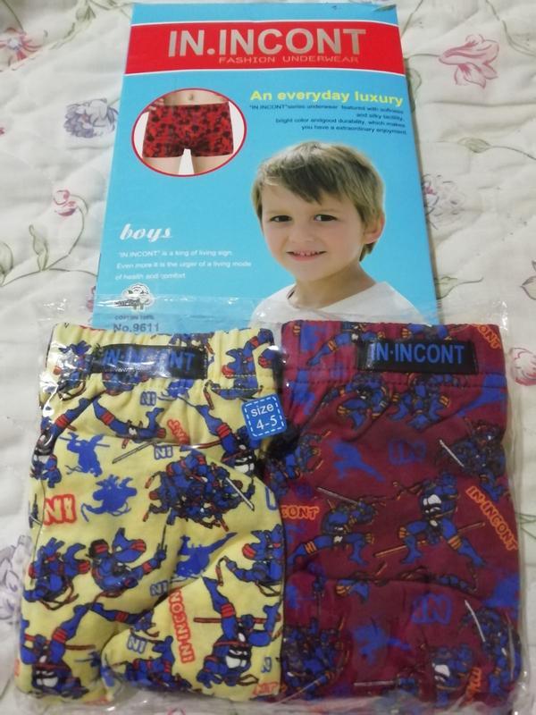 Детские трусы боксеры комплект из 2шт в упаковке.