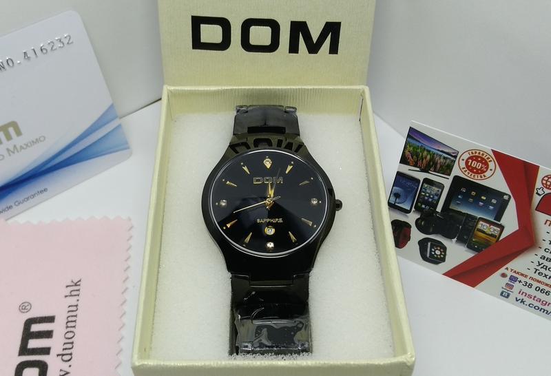Часы DOM W-698. Карбид вольфрама. Сапфир. Оригинал