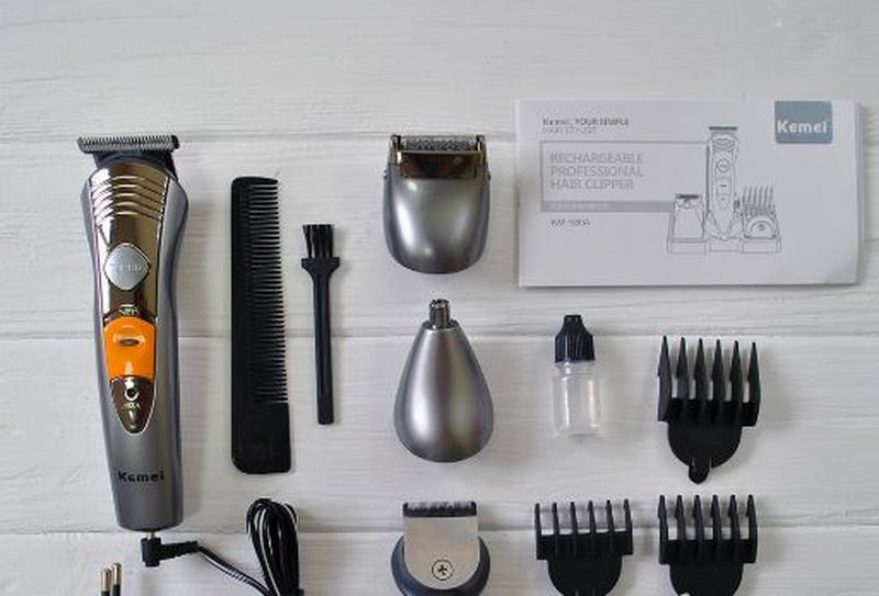 Машинка для стрижки волос 7 в 1 Kemei KM-580A триммер - Фото 3