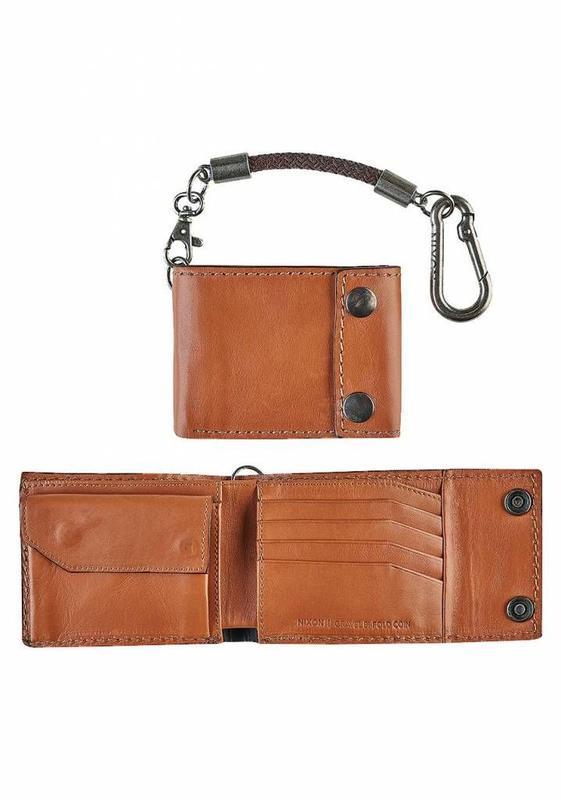Бумажник кошелёк кожаный мужской nixon gravel оригинал из сша