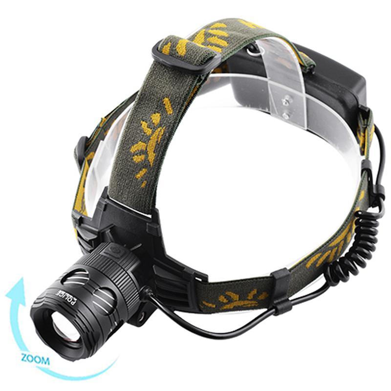 Налобный фонарь Bailong Police BL-6813A-2XPE + Ультрафиолет