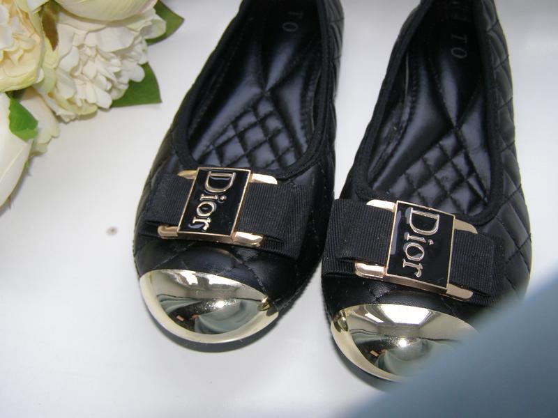 Dior стильные туфли стелька 24.5-25