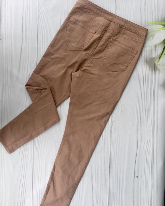 Пудровые джинсы скинни с высокой посадкой denim co - Фото 2