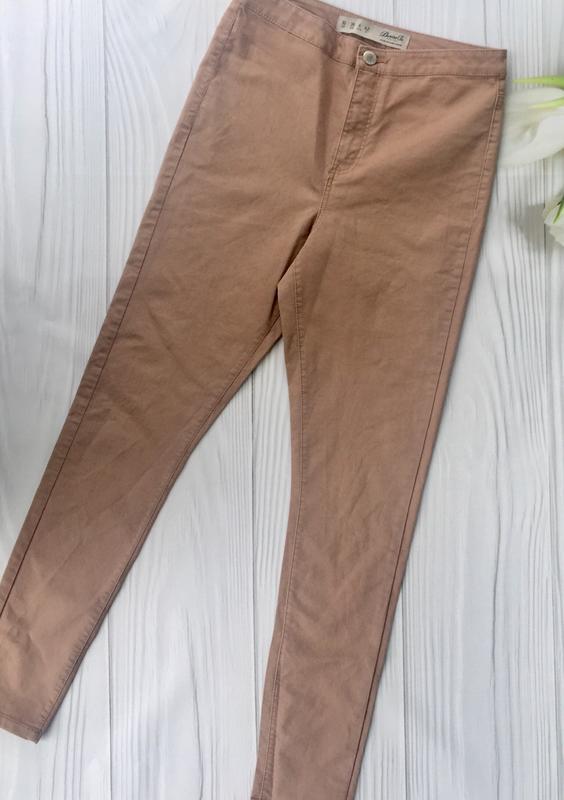 Пудровые джинсы скинни с высокой посадкой denim co - Фото 3