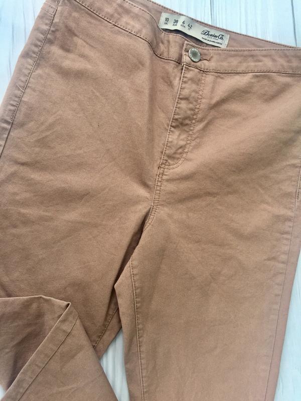 Пудровые джинсы скинни с высокой посадкой denim co - Фото 7