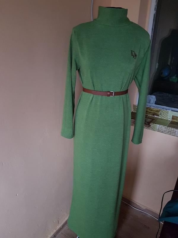 Платье длинное с пояском