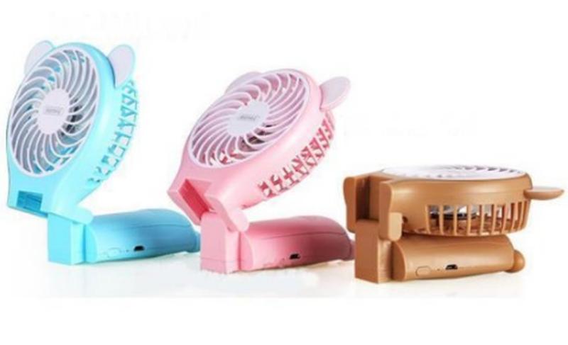 Миниатюрный складной вентилятор с зеркалом Remax Fan Mirror Folda - Фото 3