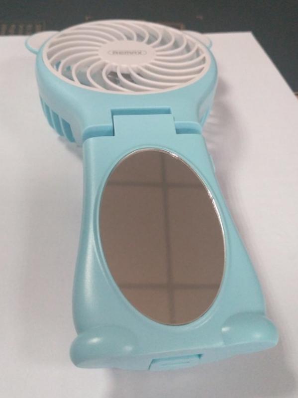 Миниатюрный складной вентилятор с зеркалом Remax Fan Mirror Folda - Фото 4