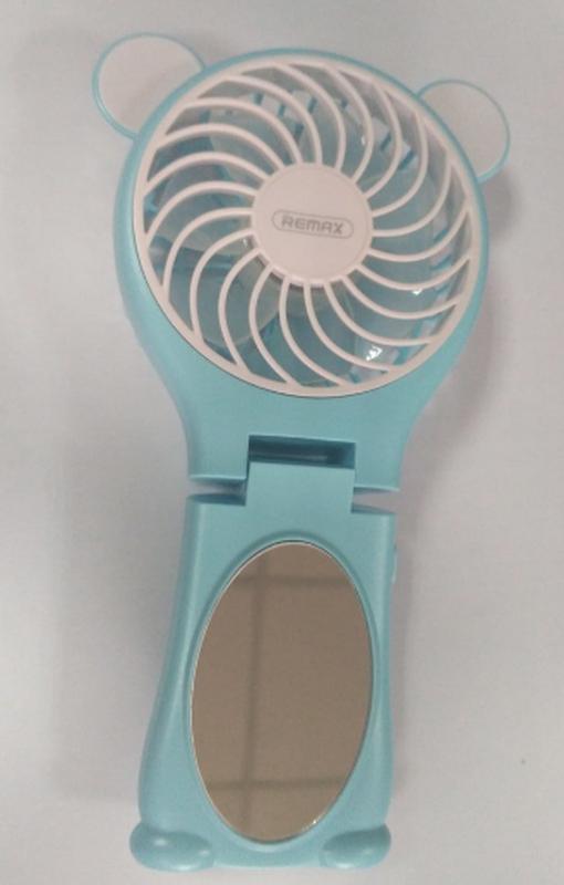 Миниатюрный складной вентилятор с зеркалом Remax Fan Mirror Folda - Фото 5