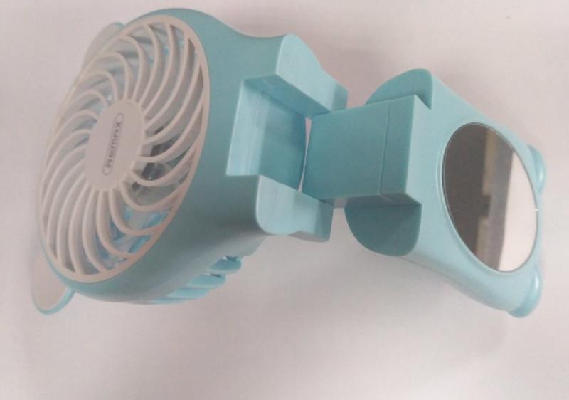 Миниатюрный складной вентилятор с зеркалом Remax Fan Mirror Folda - Фото 11