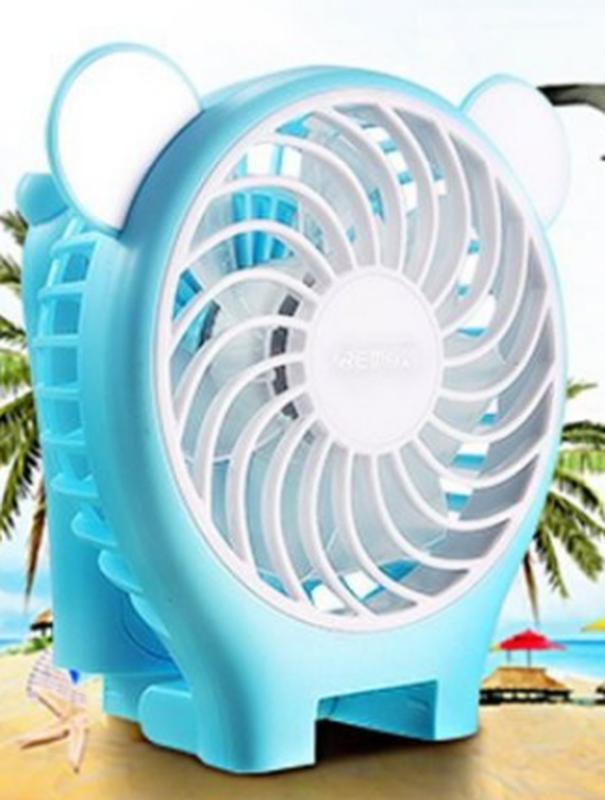 Миниатюрный складной вентилятор с зеркалом Remax Fan Mirror Folda - Фото 8
