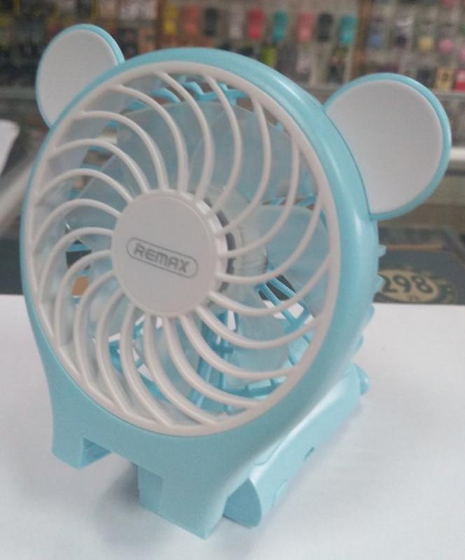 Миниатюрный складной вентилятор с зеркалом Remax Fan Mirror Folda - Фото 12