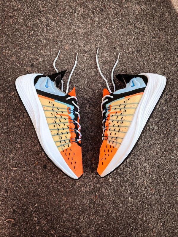 Шикарные мужские кроссовки nike оранжевые - Фото 3