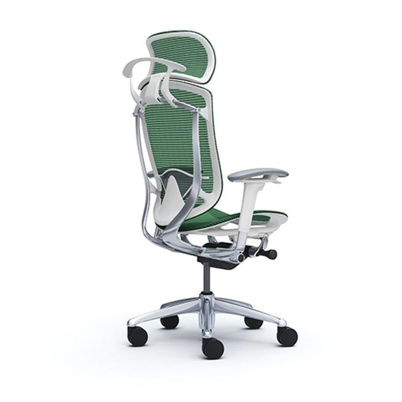 Кресла  OKAMURA CONTESSA II SECONDA  Белый каркас, Green - Фото 2