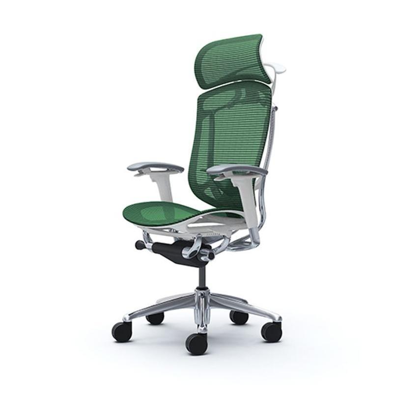 Кресла  OKAMURA CONTESSA II SECONDA  Белый каркас, Green - Фото 3