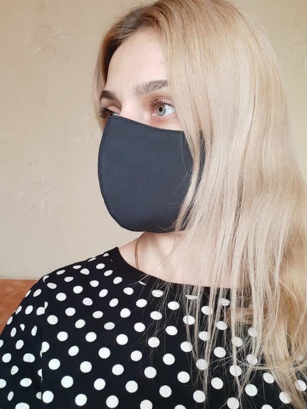 Маска защитная трёхслойная для лица многоразовая - Фото 2