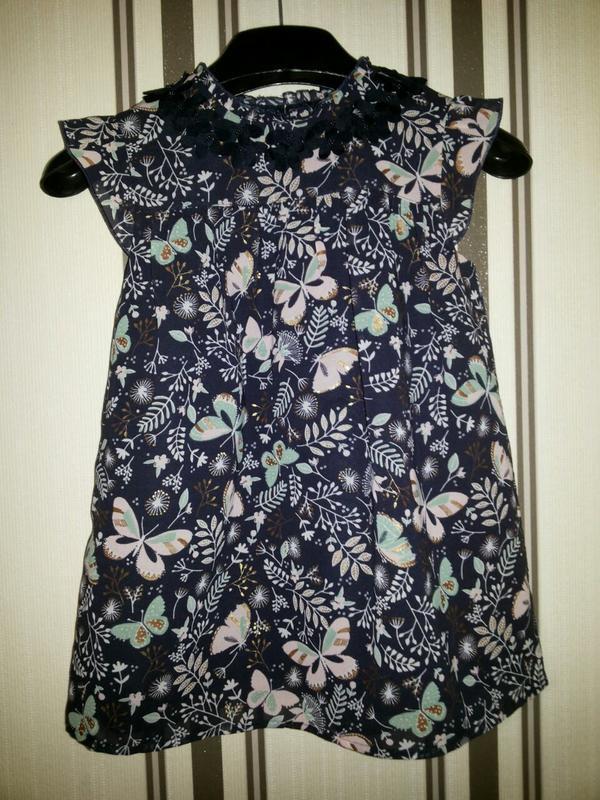 Шикарная  нарядная шифоновая блуза туника  george