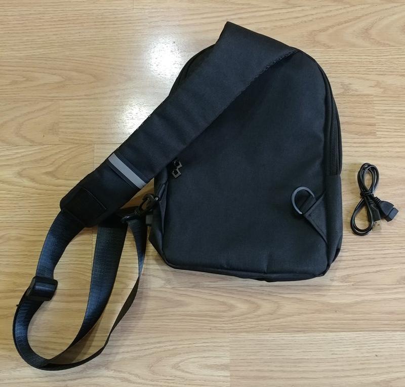 Городской мужской рюкзак city bag c usb портом, черный - Фото 3