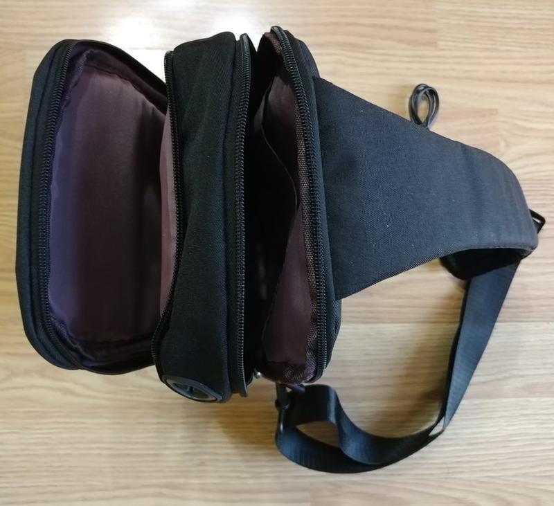 Городской мужской рюкзак city bag c usb портом, черный - Фото 4