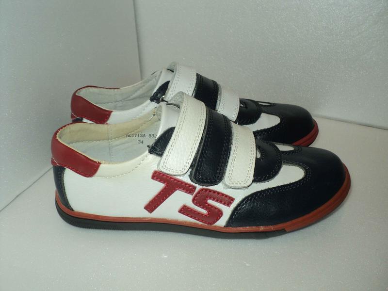 Новые кожаные кроссовки для мальчика b&g