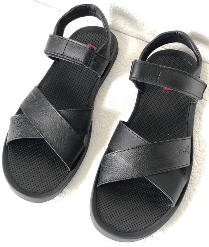 Шок ! Levis летние кожаные сандалии мужские босоножки в стиле Л