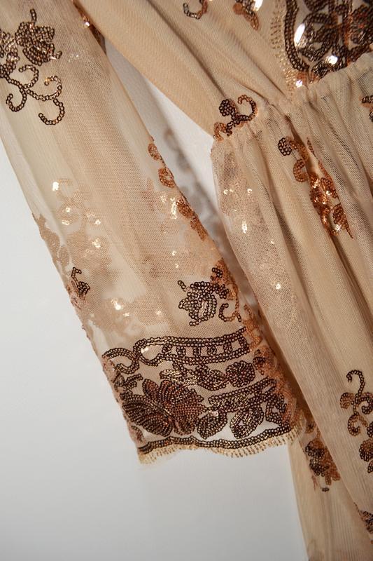Роскошное платье в золотых пайетках - Фото 3
