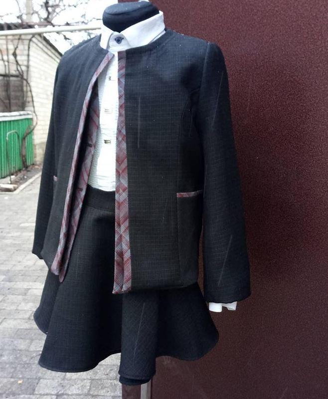 Костюм девочка 1 класс ,пиджак,юбка,брюки,жилет