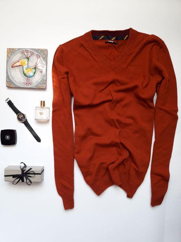 Чоловіча шерстяна кофта , світер woolmark brice