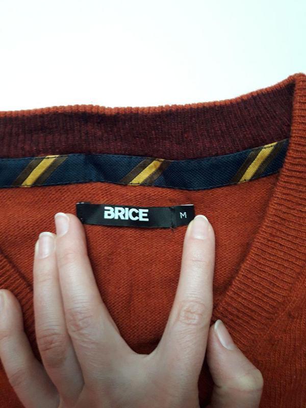 Чоловіча шерстяна кофта , світер woolmark brice - Фото 2