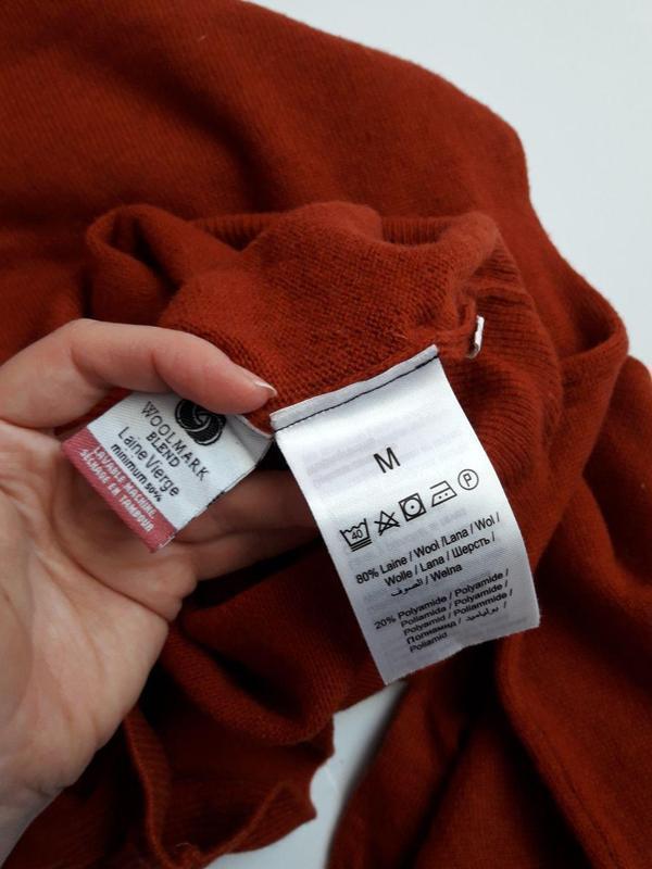 Чоловіча шерстяна кофта , світер woolmark brice - Фото 4