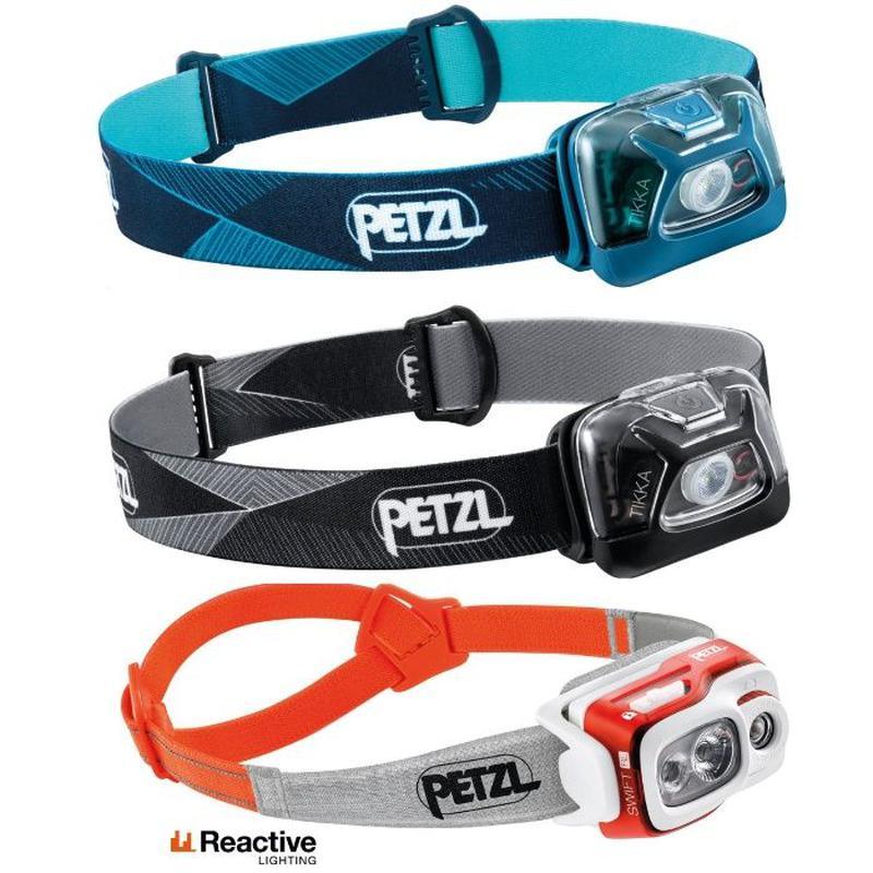 Налобные фонари Petzl Bindi и Petzl Swift RL (модели 2020) Black