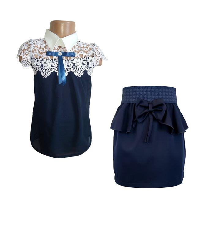 🌼школьная блузка и юбка, комплект