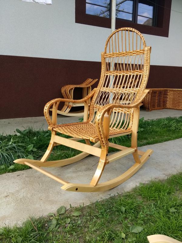 Кресло качалка буковое разборное из лозы от изготовителя