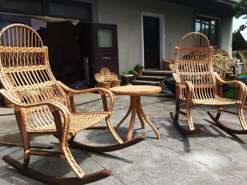 Кресло качалка буковое разборное из лозы от изготовителя - Фото 4